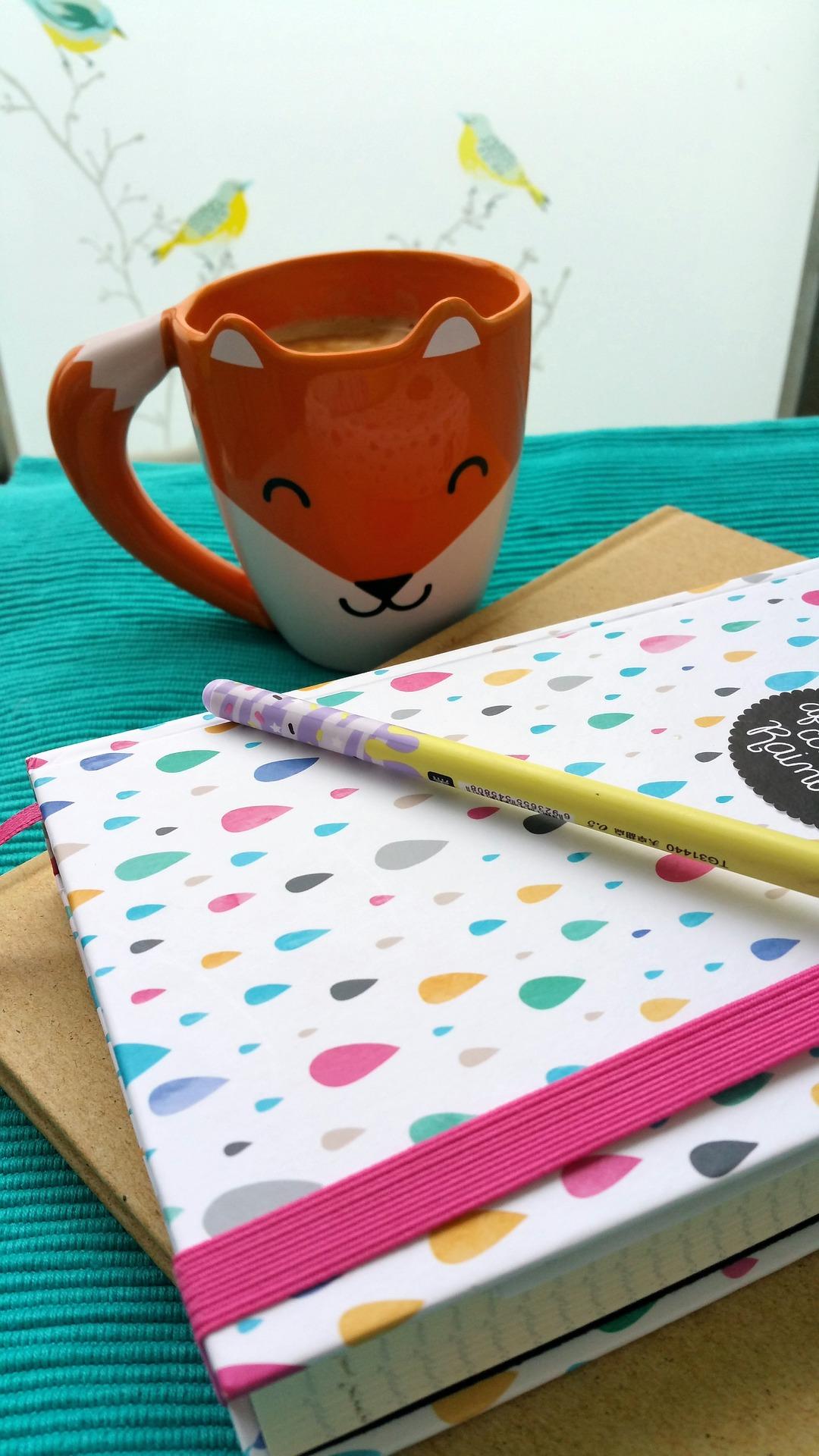 autumn schedule mug diary