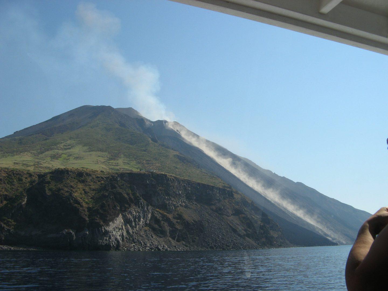 sicily aeolian islands stromboli erupting volcano italy travel