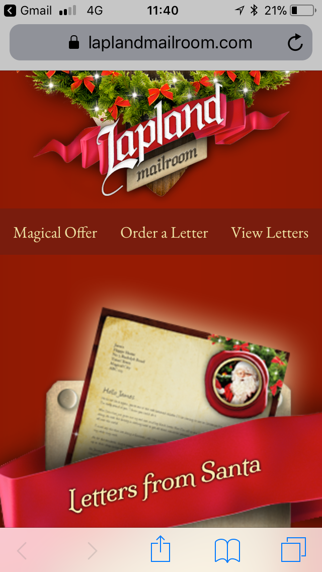 Review: Letters From Santa by Lapland Mailroom
