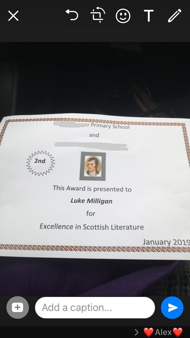 robert burns award poetry autism