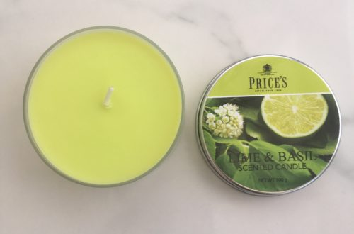 price's candles lime and basil scented candle