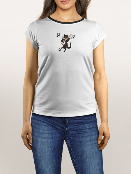 minstrel cat t-shirt black cat clothing