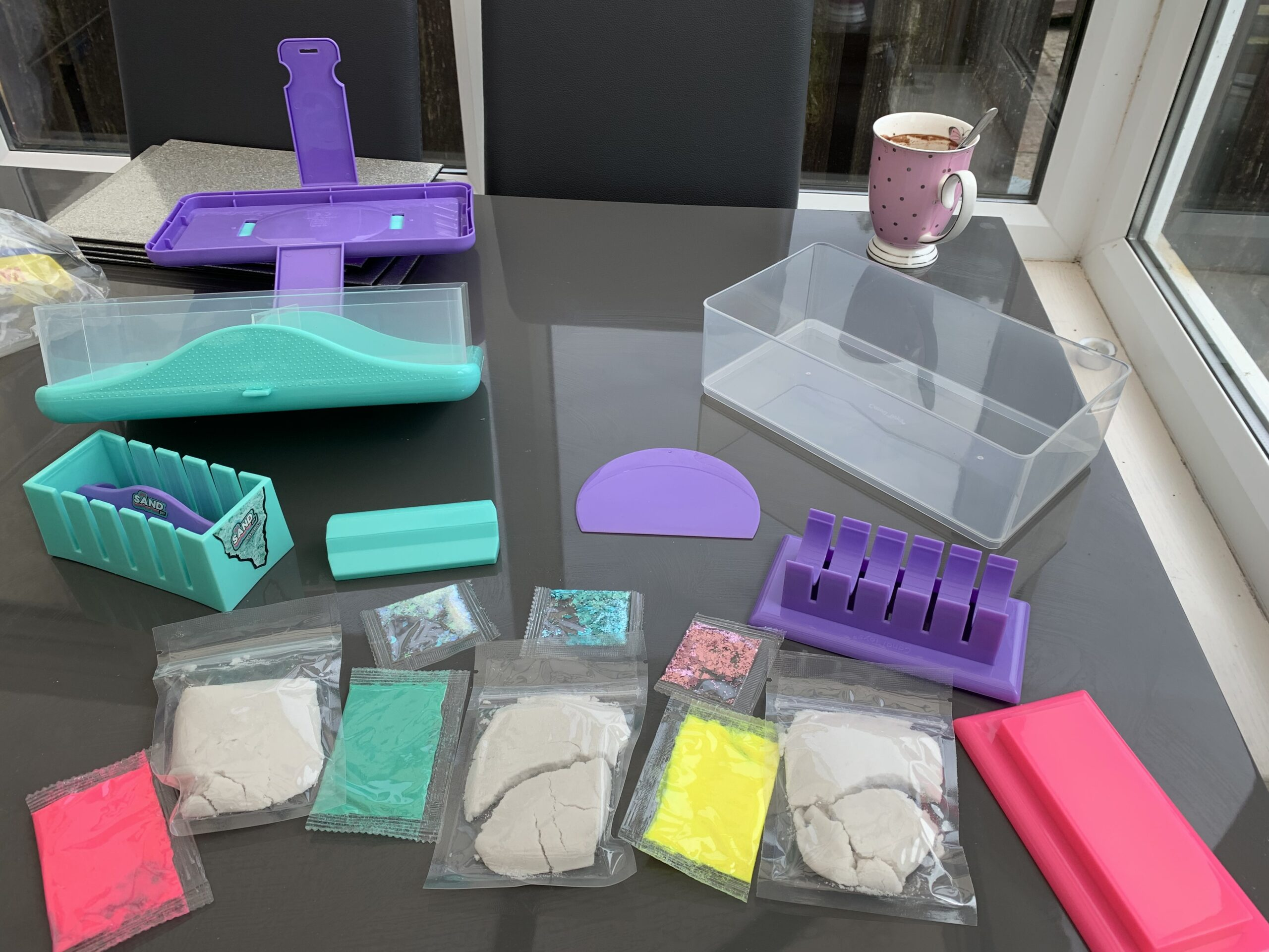 so sand diy satisfying magic sand case kit